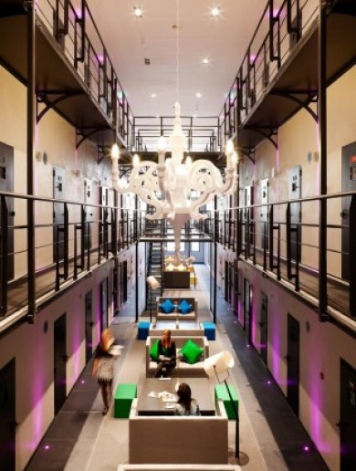 These hotels give guests a chance to sleep in luxury prison cells