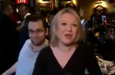 This guy realised he was on live TV and hammed it up for all he's worth