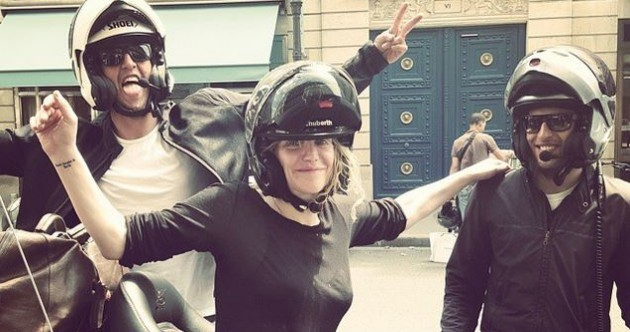 Courtney Love got 'taken hostage' during a protest in Paris