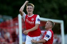 This clever Chris Forrester lob was the highlight of the Saints' win last night