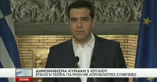 """Let the people decide"" – Greece will hold referendum on bailout deal"