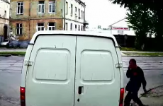 This video of a man crashing into a van proves you should never text and walk