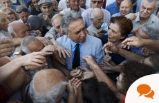 What's the issue with Greece's pension system?