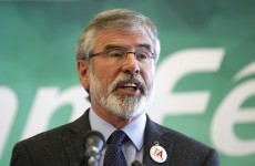 Bomb threat on Gerry Adams' house