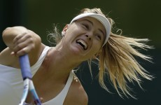 Sharapova was accused of 'gamesmanship' by her opponent at Wimbledon today