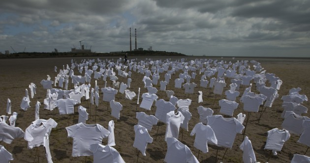 This haunting installation – using 556 baby vests – had people talking in Dublin today