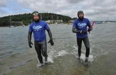 2 adventurers are a quarter of the way through the first-ever round-Ireland swim