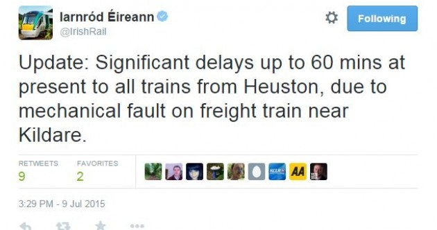There are major delays to trains out of Dublin – and people aren't happy