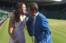 This BBC Wimbledon reporter hugged a guest and made things SO awkward