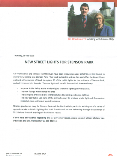 The curious case of a leaflet, some street lights and a war of words