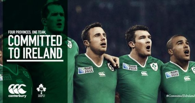 This is the new Ireland jersey for the Rugby World Cup