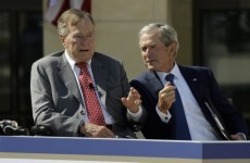Former US president George Bush breaks bone in his neck