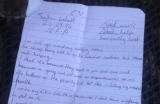 Homeless man receives job offers after photo of his handwritten CV goes viral