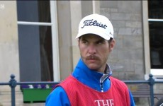 This golf caddie's hipster moustache is bringing the internet much joy