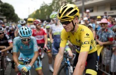 Froome has urine thrown at his face during Tour de France stage after team-mate punched