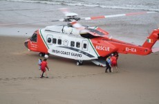 Two youths stranded on rocks airlifted to hospital