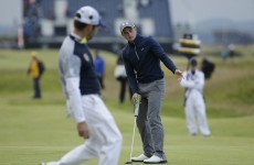 Paul Dunne felt 'at home, comfortable' while forcing his way in to Open Championship lead