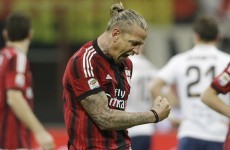 Philippe Mexes caught a volley in the sweetest spot possible against Inter