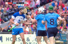 Liam Rushe smacked Maurice Shanahan in the face with his hurl