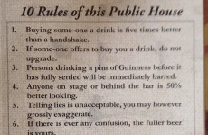 A Rathfarnham pub's 'rules' went down a storm on the internet