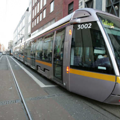 "Man left bloodied after ""freak accident"" at Luas stop"