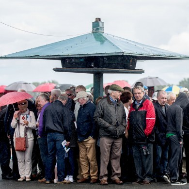 The rain came to Galway today for Day 2 of the festival