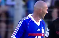 Zinedine Zidane scored a pretty sweet try against Toulon last night