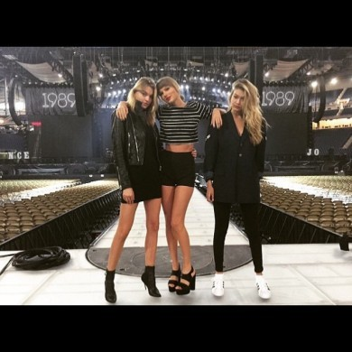 Taylor Swift's clatter of model friends defended her against a Twitter slagging… it's the Dredge