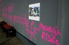 Anti-immigrant graffiti appears in Garden of Remembrance