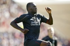 Christian Benteke has just scored a cracking volley on his Liverpool debut