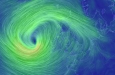 A Met Éireann wind warning has just kicked in, for the entire west coast…