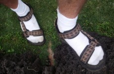 Is it ever acceptable to wear socks and sandals?