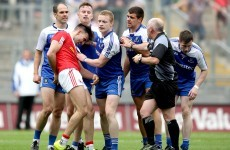 Tyrone's Tiernan McCann took a disgraceful dive after having his hair ruffled