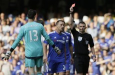 Headache for Mourinho as Chelsea drop early points after Courtois shown red card