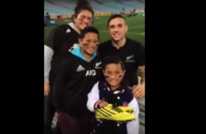 Nice guy TJ Perenara absolutely makes a young fan's day after loss to Australia