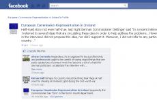 Facebook joke about EU commissioner's flag gaffe 'not an official remark'