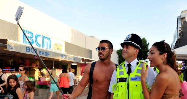 Here's how the British police sent to keep an eye on revellers in Magaluf are getting on