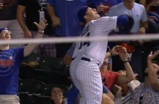 Anthony Rizzo goes to extreme lengths to make this outrageous catch