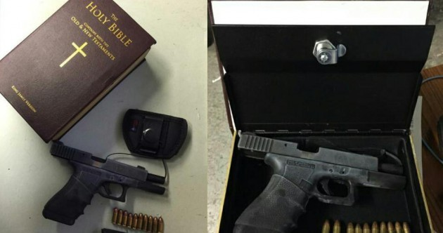 New York cops find fully-loaded Glock hidden in a fake Bible