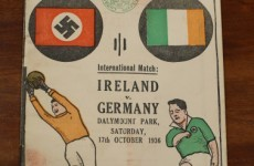 Here's the story behind that Ireland v Germany swastika match programme