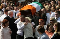 Murdered ex-IRA man laid to rest – as three people are questioned over his killing