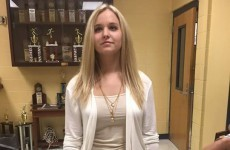 This teen was sent home from school for exposing her… collar bone
