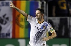 Robbie Keane can't stop scoring – he got another two for the Galaxy last night