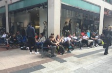 Loads of people have started queuing on Grafton Street for Kanye West runners