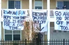 These sexist signs have sparked controversy at a US college today