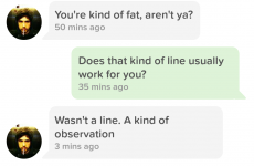 An Irish girl perfectly shut down this guy who called her 'kinda fat' on Tinder
