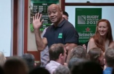 Jonah Lomu leaves unsuspecting punters in a Dublin pub baffled