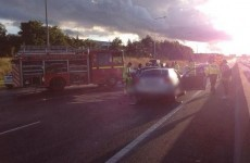 Two accidents (one involving seven vehicles) on the M50