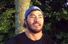 Manu Tuilagi sends good luck message to England squad… while wearing a Samoa hat
