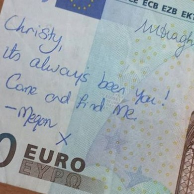 Here's what happened with that romantic �20 note